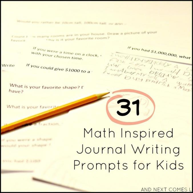 math writing prompts Math writing prompts you can use these writing prompts for writing practice in preparation for the spring telpas you have the option of choosing one of the two writing prompts listed for a two-week period and allow students to complete their compositions over the two weeks listed or you can have the students write on a prompt a week, so that they complete two prompts in two weeks.