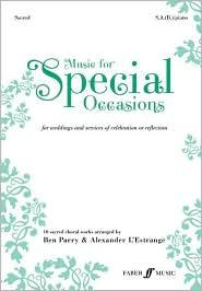 Music for Special Occasions brings together 10 sacred choral works in one volume, carefully selected to cater for a whide variety of performance contexts - whether joyful, reflective or commemorative. Practically arranged for soprano and alto (with an optional part for baritone of low alto), this unique collection of best-loved classics and new pieces is a must-have resources for all school, community and church choirs. Titles include: My Love Is Like a Red, Red Rose Ombra Mai Fu Londonderry Air You'll Never Walk Alone Circle of Life and more.